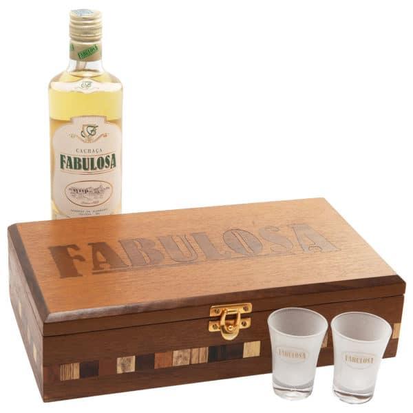 Cachaça Fabulosa Premium Kit Marchetaria - Fechado